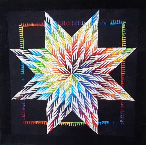 colorful star quilt